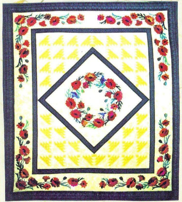 Image 1 of Sotterley Beauty IV Plantation Poppies Design Quilt Pattern