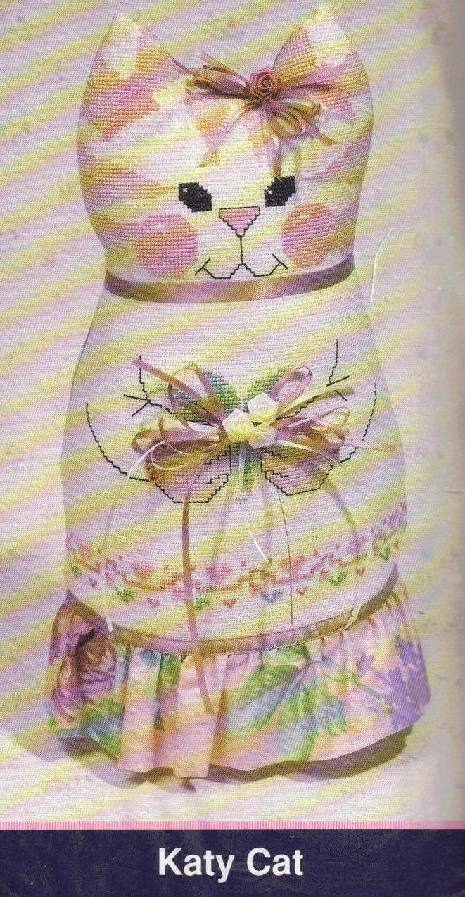 Image 1 of Love n' Stitches Cross Stitch Kit Sit Abouts Katy Kat Diana