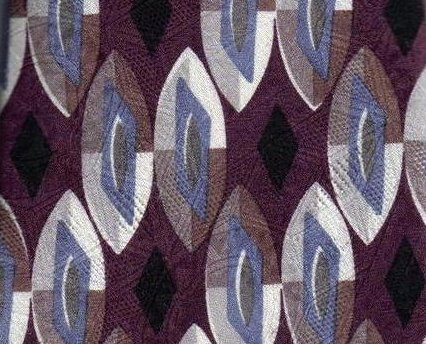 Image 0 of Nordstrom Mens Silk Tie Necktie Purple Blue White Black