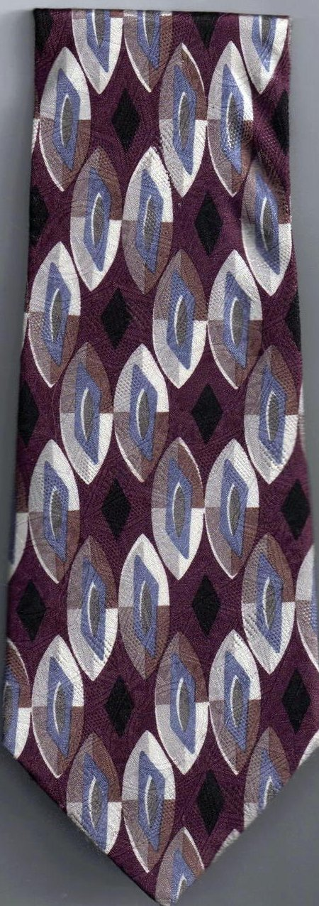Image 2 of Nordstrom Mens Silk Tie Necktie Purple Blue White Black