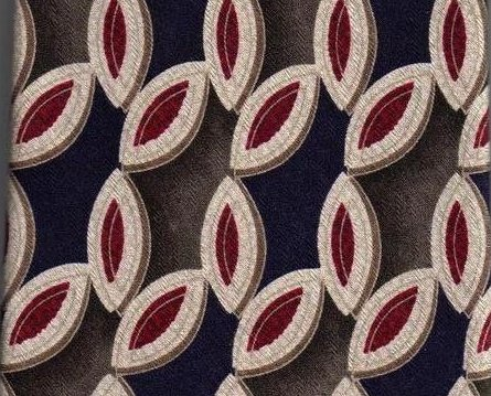 Image 0 of Nordstrom XMI Mens Silk Tie Necktie Blue Red Olive Print