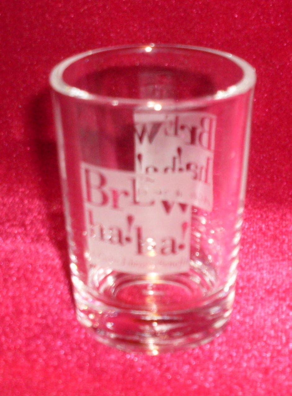 Brew Ha Ha Large Shot Glass 4 oz Clear
