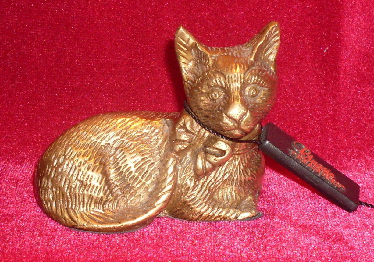 Classic Treasures Brass Cat Figure Vintage Collectible