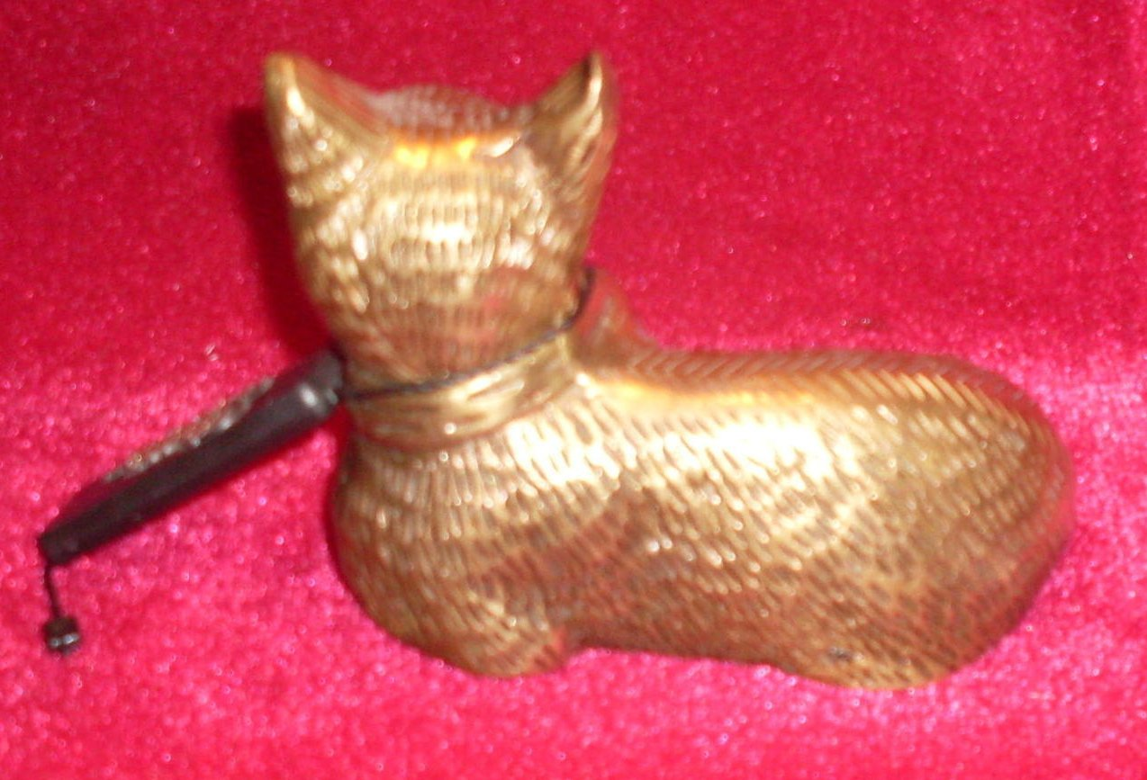 Image 1 of Classic Treasures Brass Cat Figure Vintage Collectible