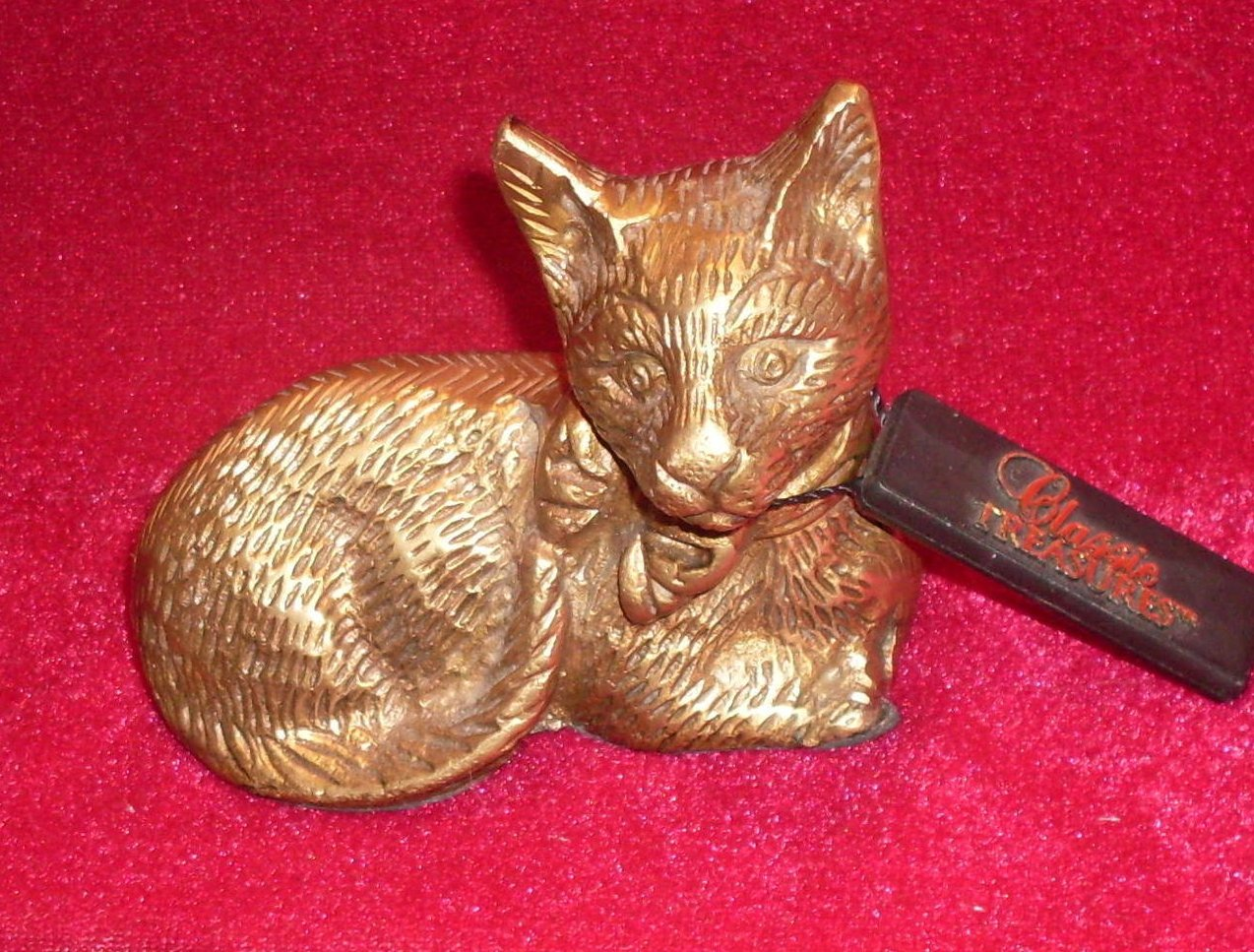 Image 2 of Classic Treasures Brass Cat Figure Vintage Collectible
