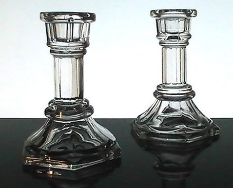Home Interiors Column Candlesticks 4 inches Set of 2