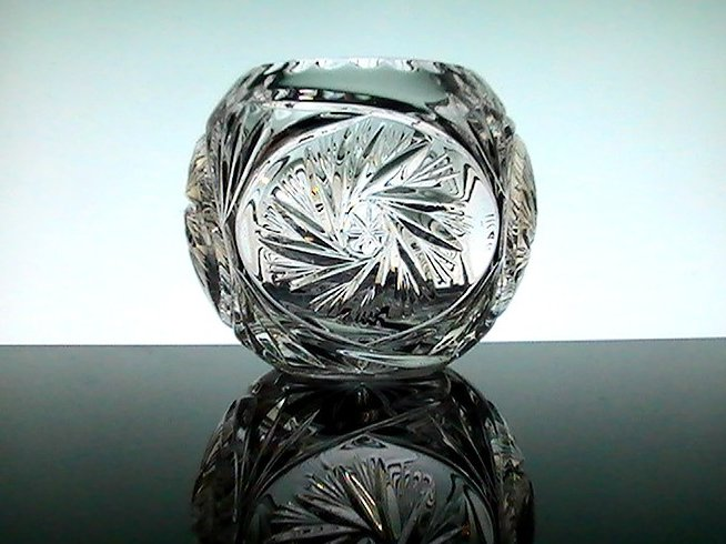 Elegant Crystal Star Spinner Votive Candle Bowl Holder