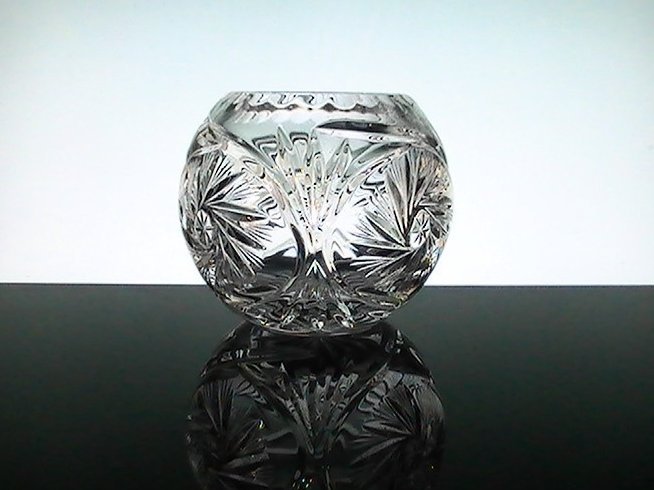 Elegant Crystal Star Spinner Votive Candle Bowl Holder