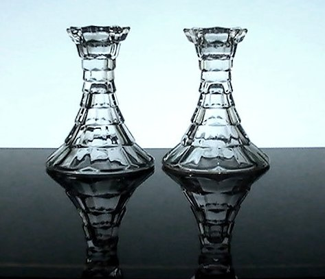 Crystal Candlesticks Home Interiors Lady Love Set of 2