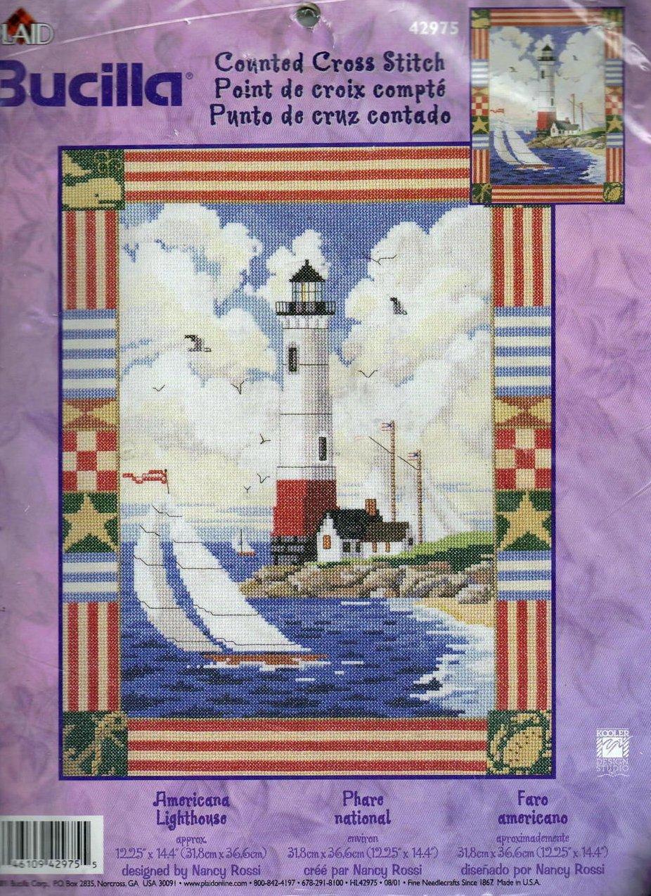 Bucilla Americana Lighthouse Counted Cross Stitch Kit 42975
