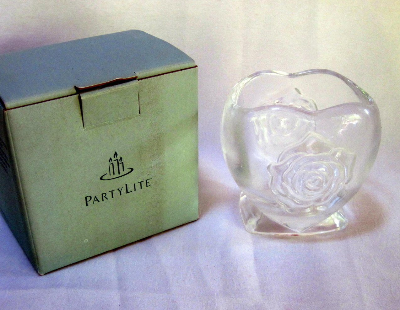 PartyLite Rosehearts Tealight or Votive Candle Holder P7256
