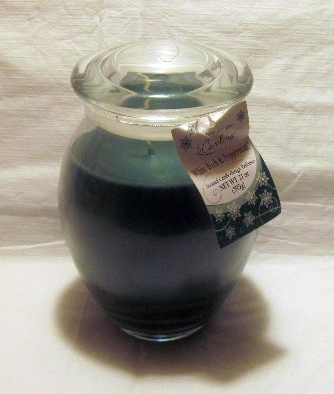 White Birch and Peppermint Carolina Jar Candle Green 21 oz