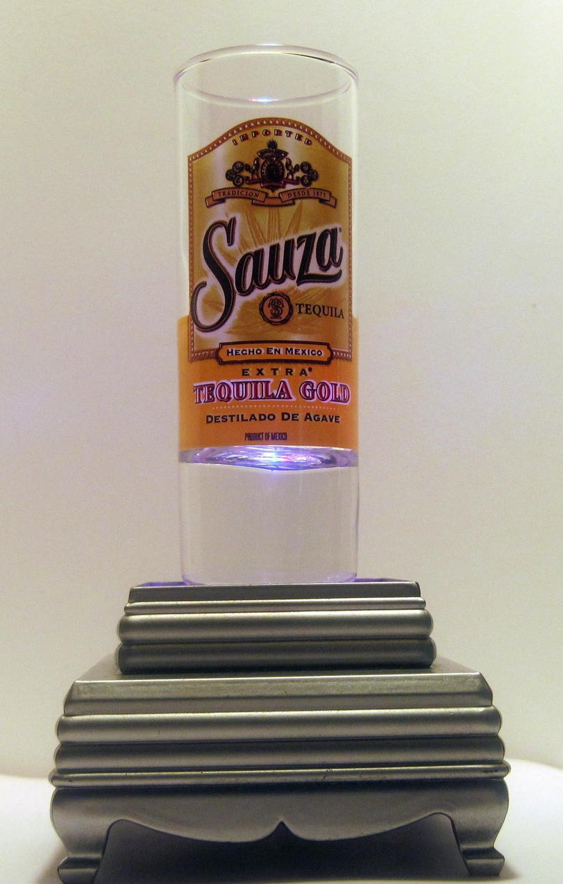 Sauza Tequila Gold Tall Collectible Shot Glass 2 oz