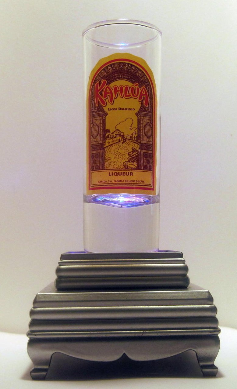 Kahlua Liqueur Tall Collectible Shot Glass 2 oz