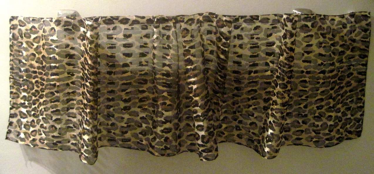 Cheetah Print Scarf Brown Black Gold 58 X 13