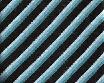 BCBG Tie Mens Necktie Silk Blue Black Stripe