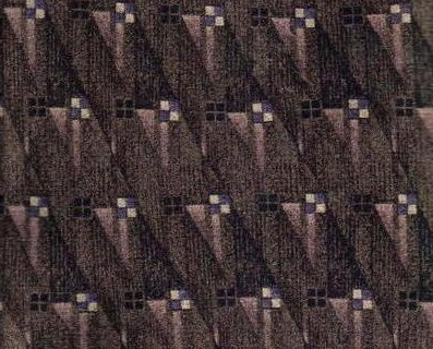 Hill & Archer Tie Mens Necktie Silk Brown Print