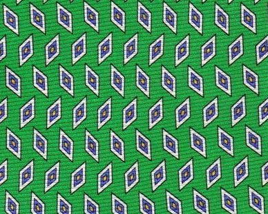 Image 0 of Roundtree & York Tie Mens Necktie Silk Green Blue Print