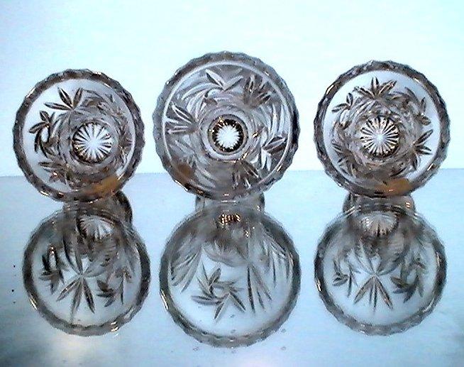 Image 3 of Lenox Fine Crystal Star Vases Collection Set of 3 NIB