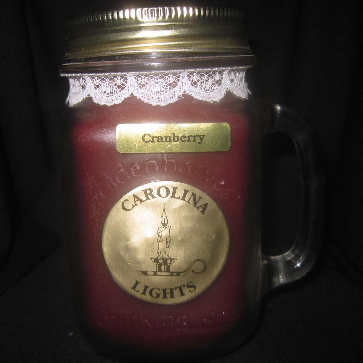 Image 3 of Carolina Lights Cranberry Jar Candle 12 oz Charleston
