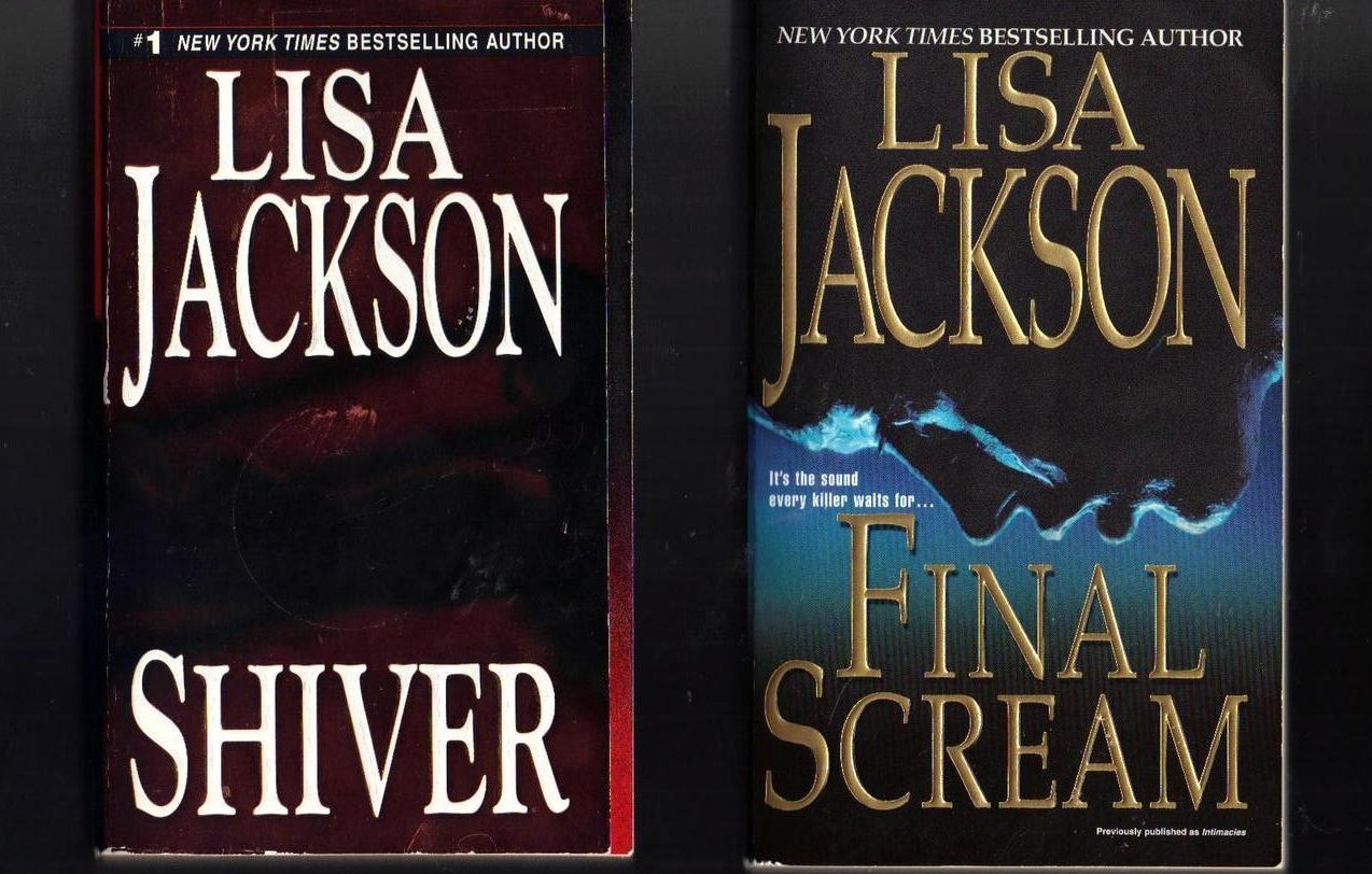 Lisa Jackson Shiver and Final Scream Softcover Lot of 2