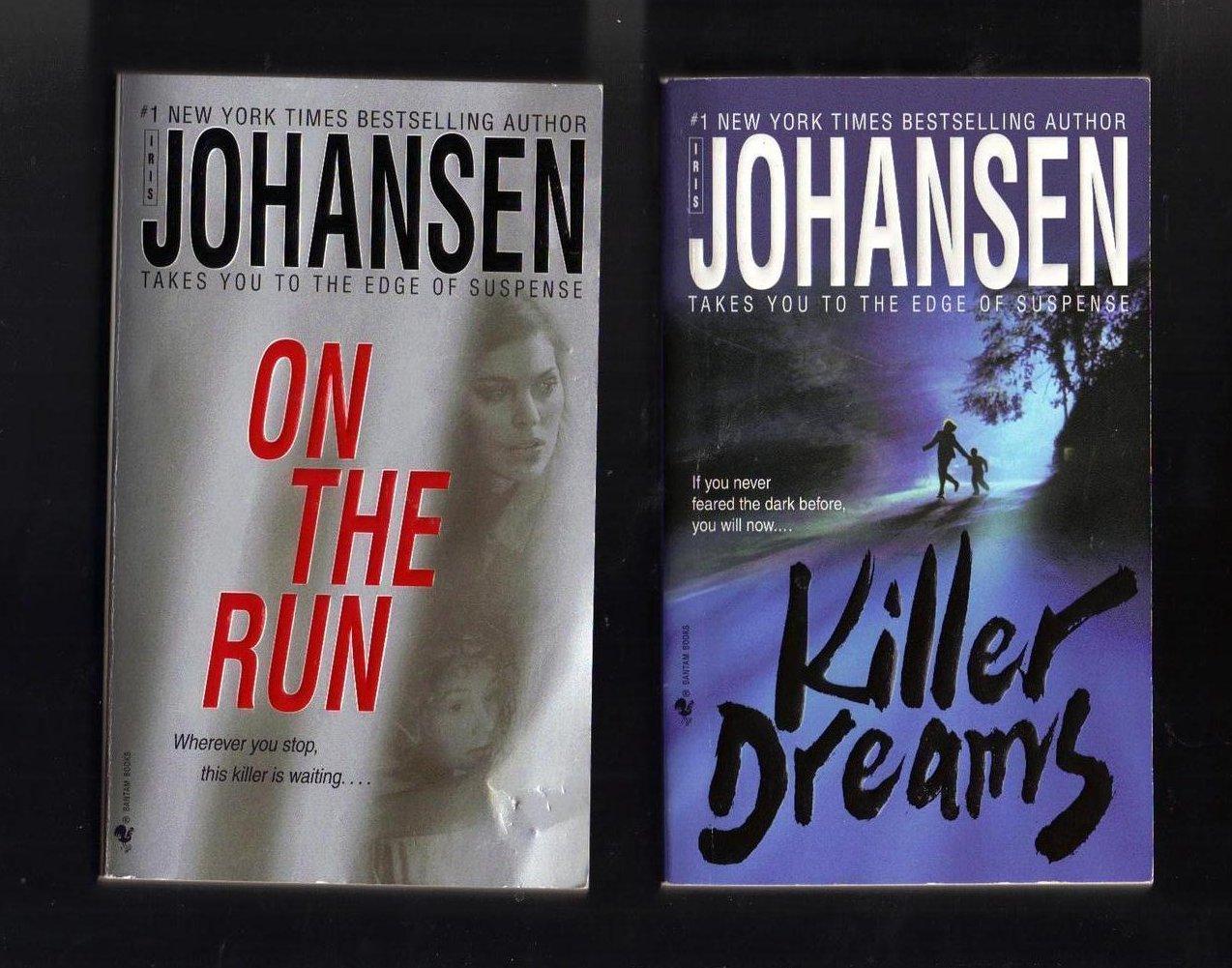 Iris Johansen On the Run and Killer Dreams PB Lot of 2 Books