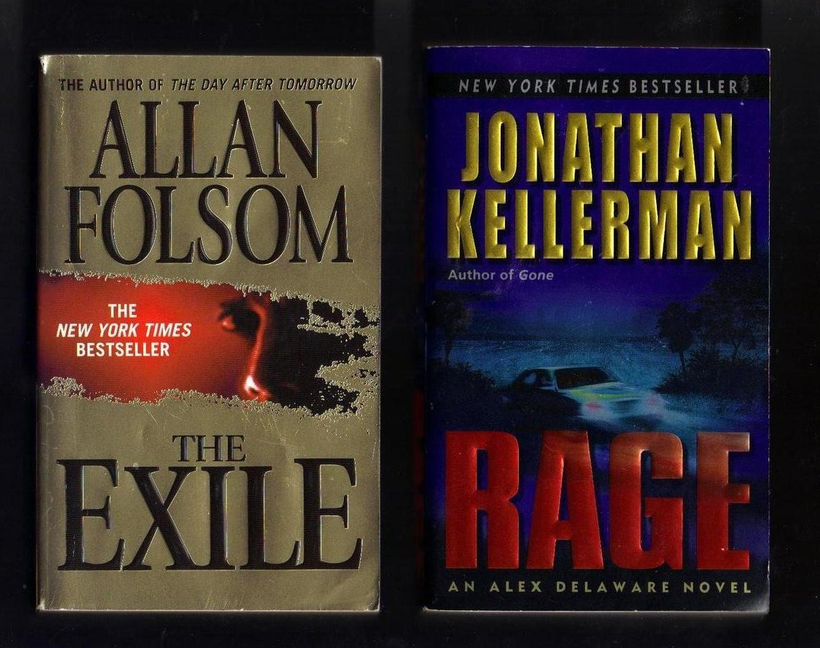 Allan Folsom and Jonathan Kellerman PB Lot of 2 Books