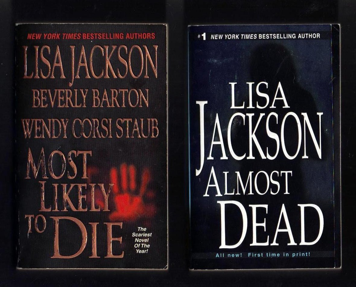 Lisa Jackson Most Likely to Die and Almost Dead PB Lot of 2