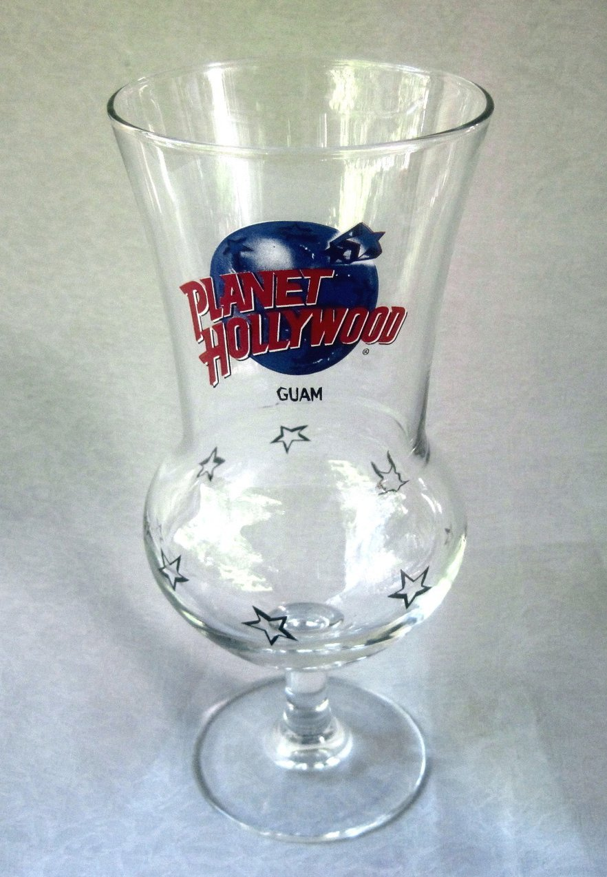 Planet Hollywood Guam Hurricane Margarita Glass 20 oz RARE