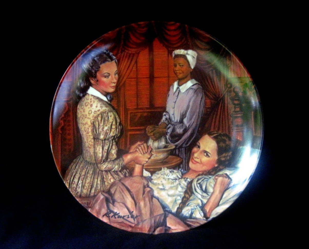 Gone with the Wind Plate Melanie Gives Birth Knowles Collectors Plate MIB