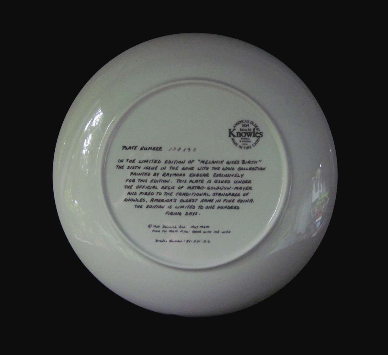 '.GWTW Collector Plate.'