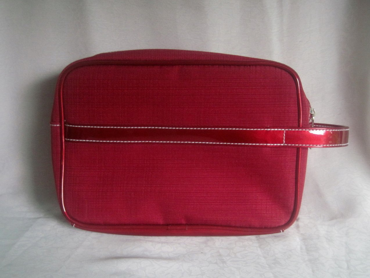 Image 1 of Estee Lauder Red Cosmetic Makeup Bag