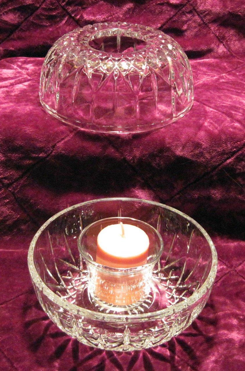 Image 1 of Diamond Cut Homco Fairy Lamp Light Candle Holder 1189