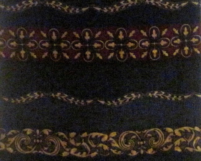 Image 0 of Roundtree & York Navy Silk Necktie Persian Paneled Print Tie