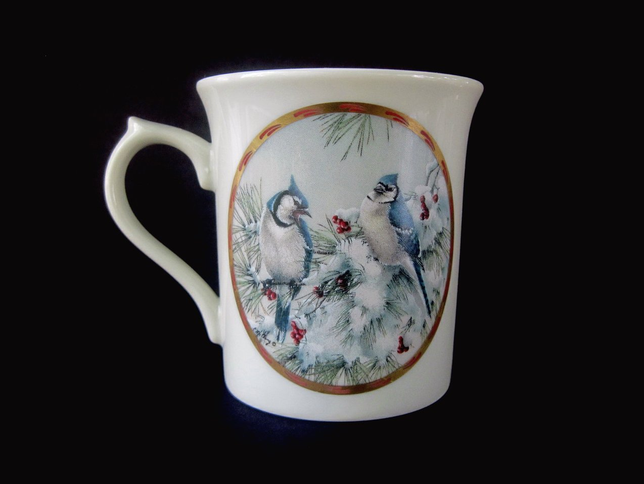 Image 1 of Lenox Natures Collage Birds 1994 Winter Song Mug