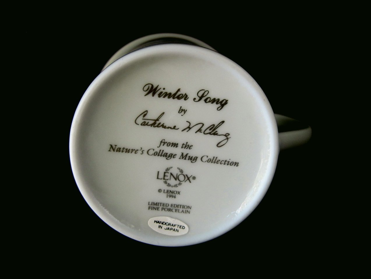 Image 3 of Lenox Natures Collage Birds 1994 Winter Song Mug