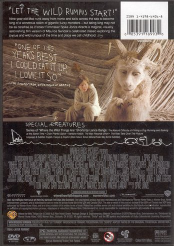 '.Where the Wild Things Are DVD.'