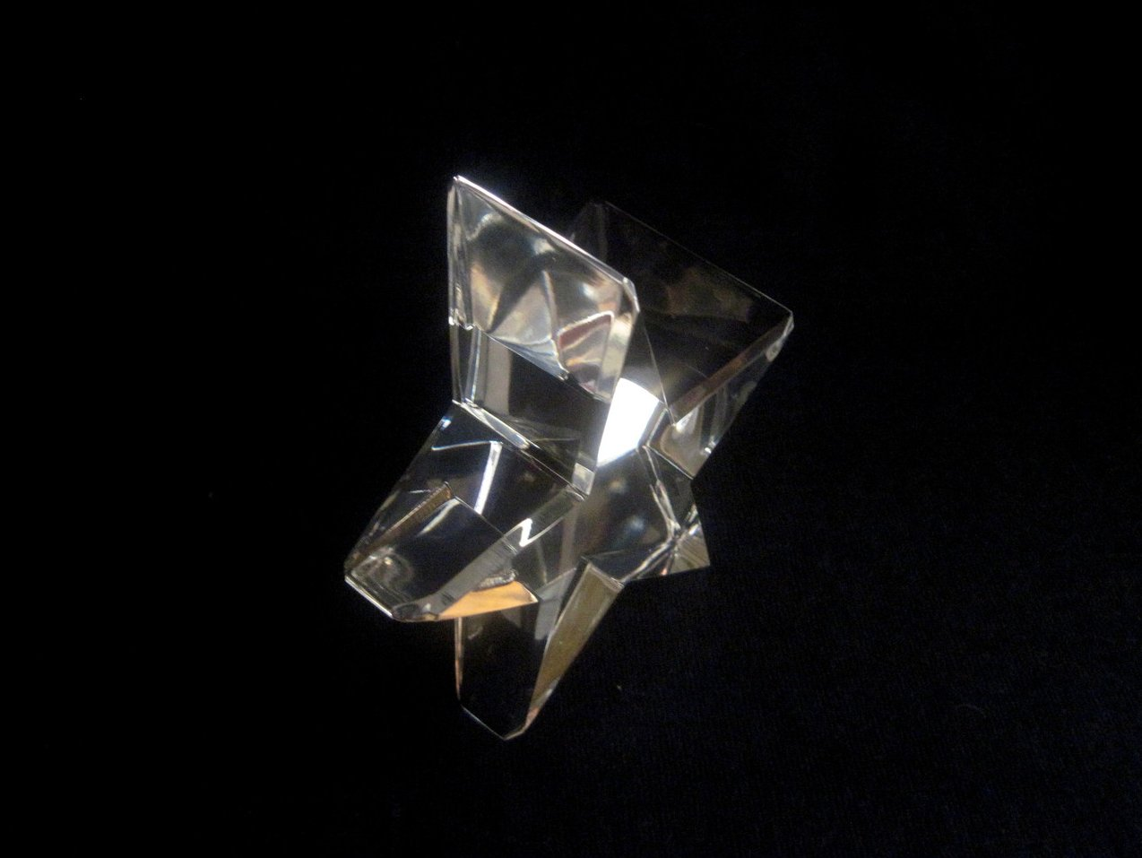 Image 1 of Optical Crystal Star Paperweight Elegant Cut Nordstrom