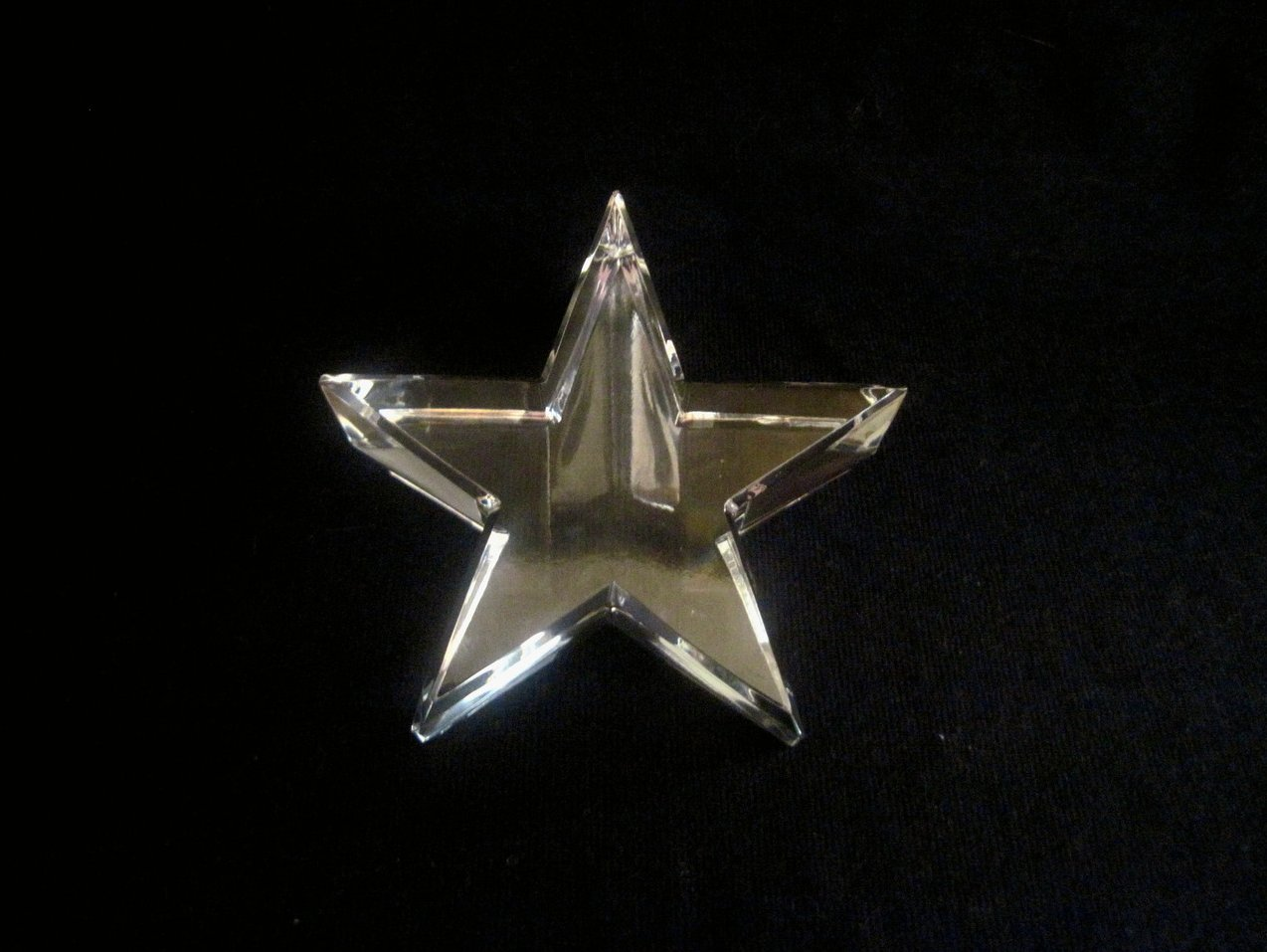 Image 2 of Optical Crystal Star Paperweight Elegant Cut Nordstrom