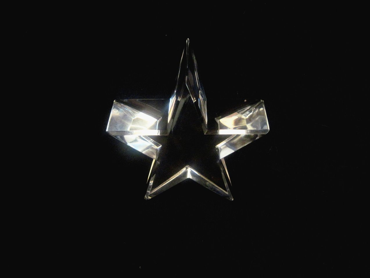 Image 3 of Optical Crystal Star Paperweight Elegant Cut Nordstrom