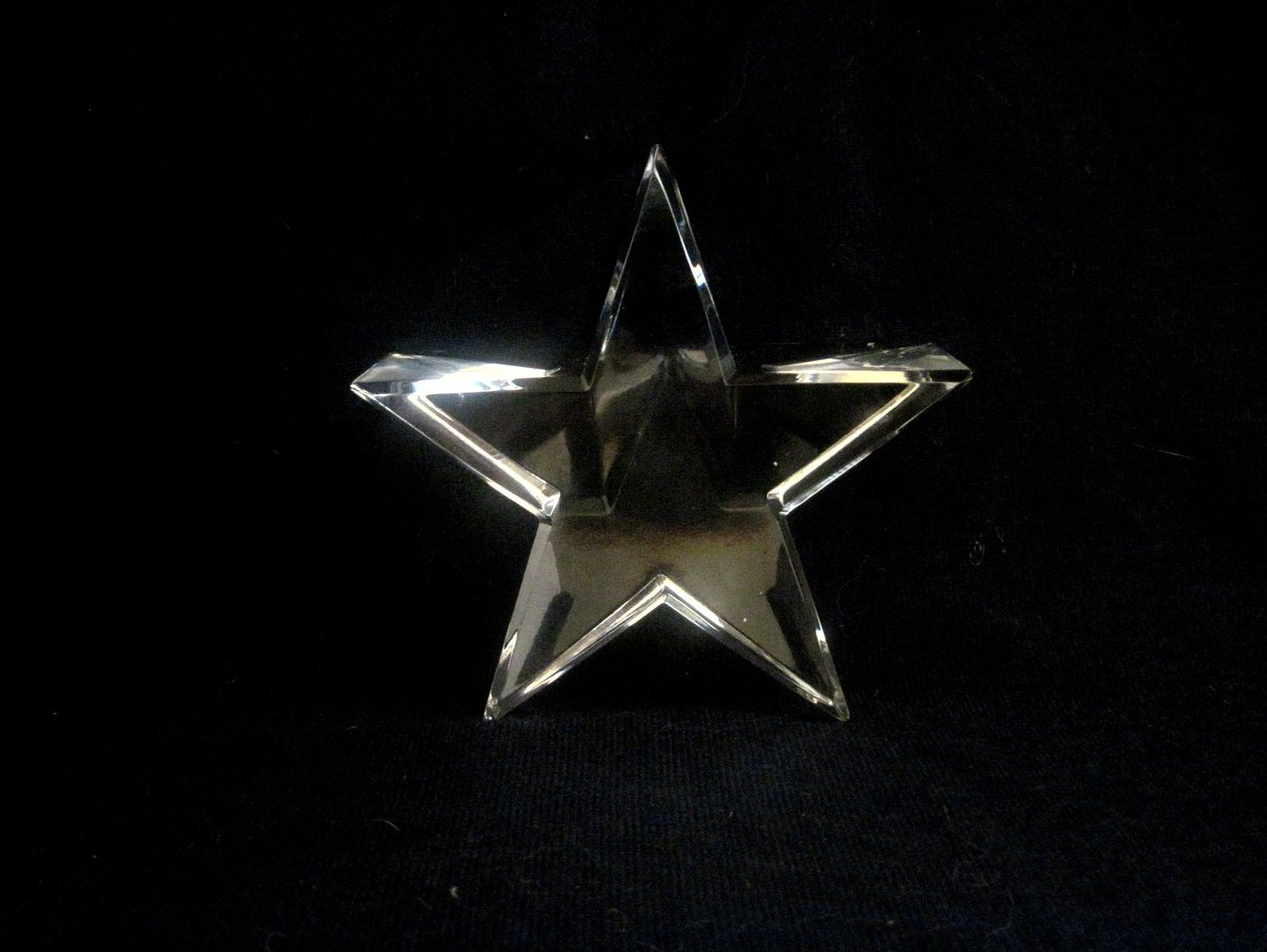 Image 4 of Optical Crystal Star Paperweight Elegant Cut Nordstrom