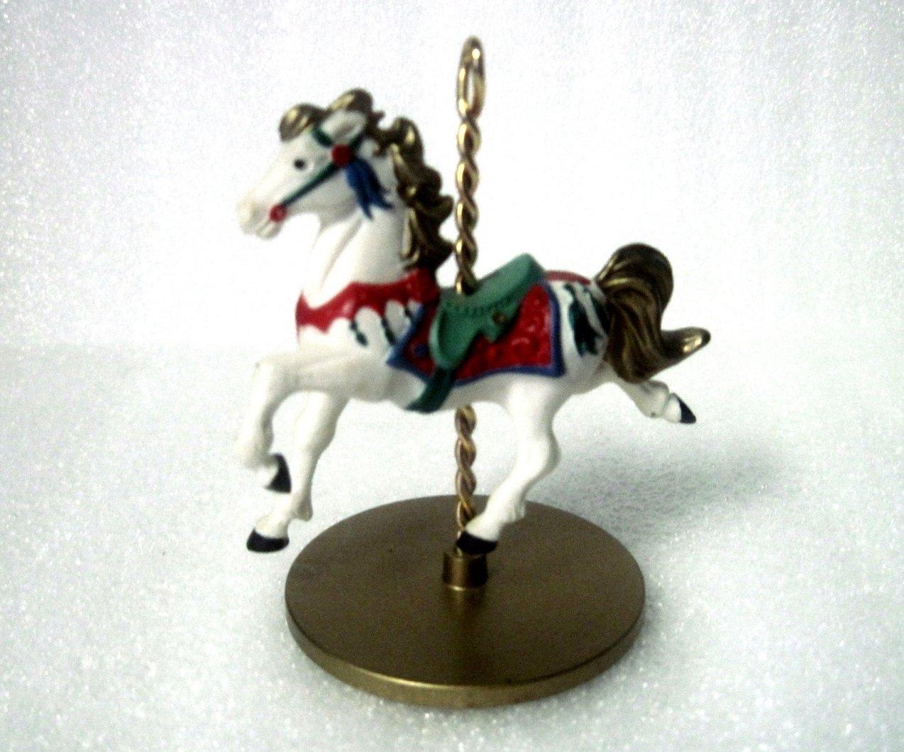 '.Snow Christmas Carousel Horse.'