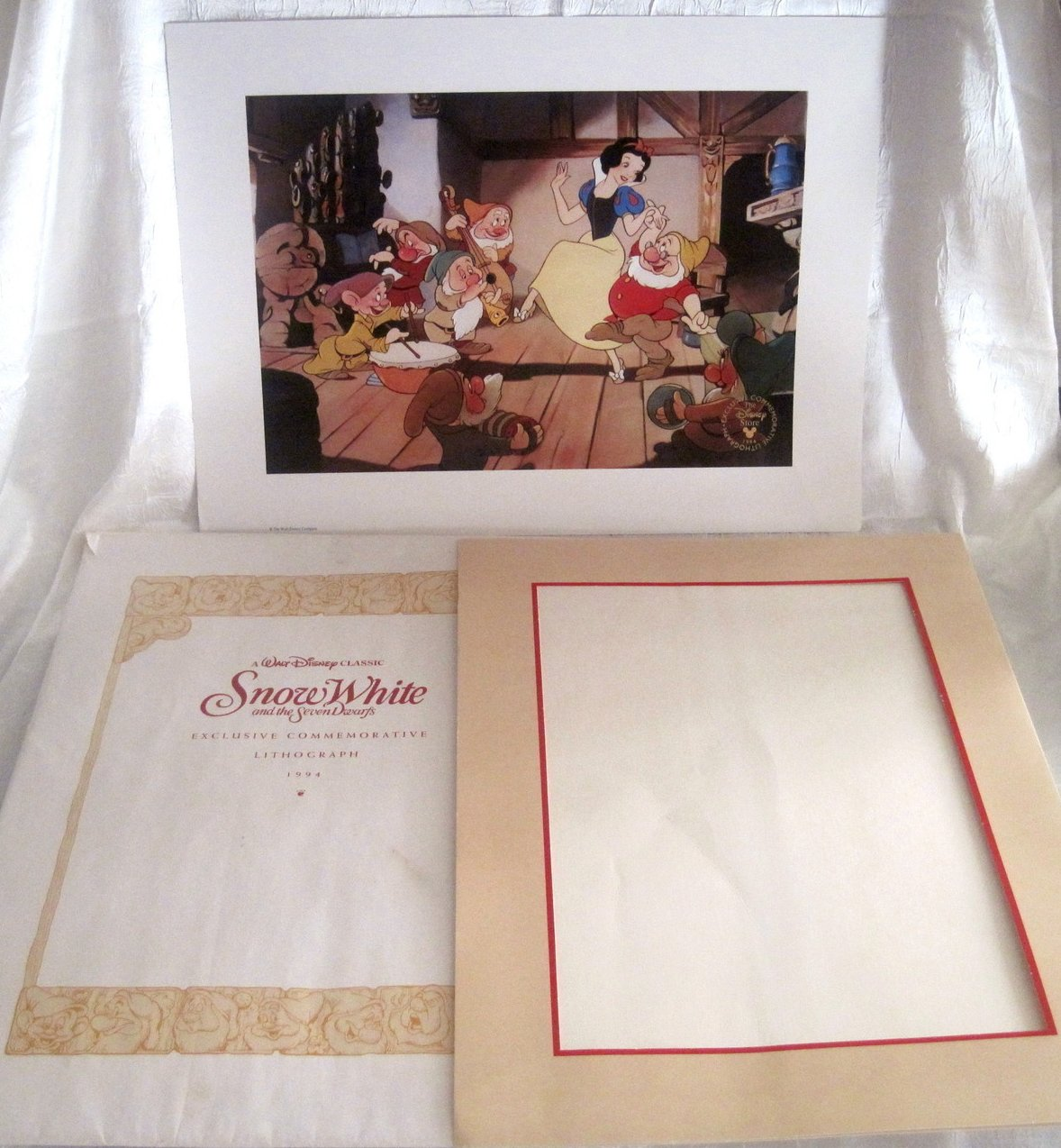 Image 3 of Snow White and the Seven Dwarfs Disney Lithograph 1994