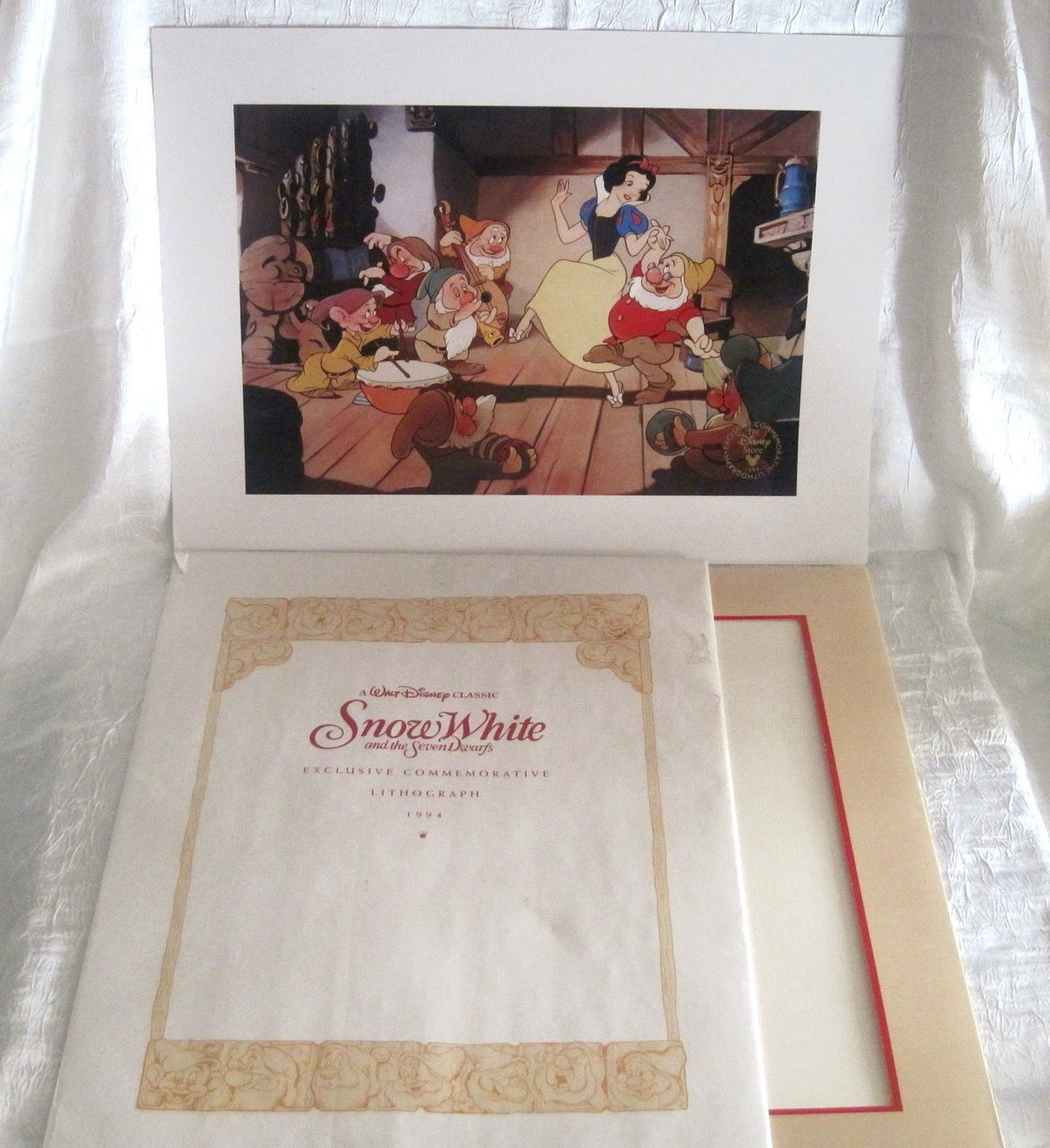 Image 4 of Snow White and the Seven Dwarfs Disney Lithograph 1994