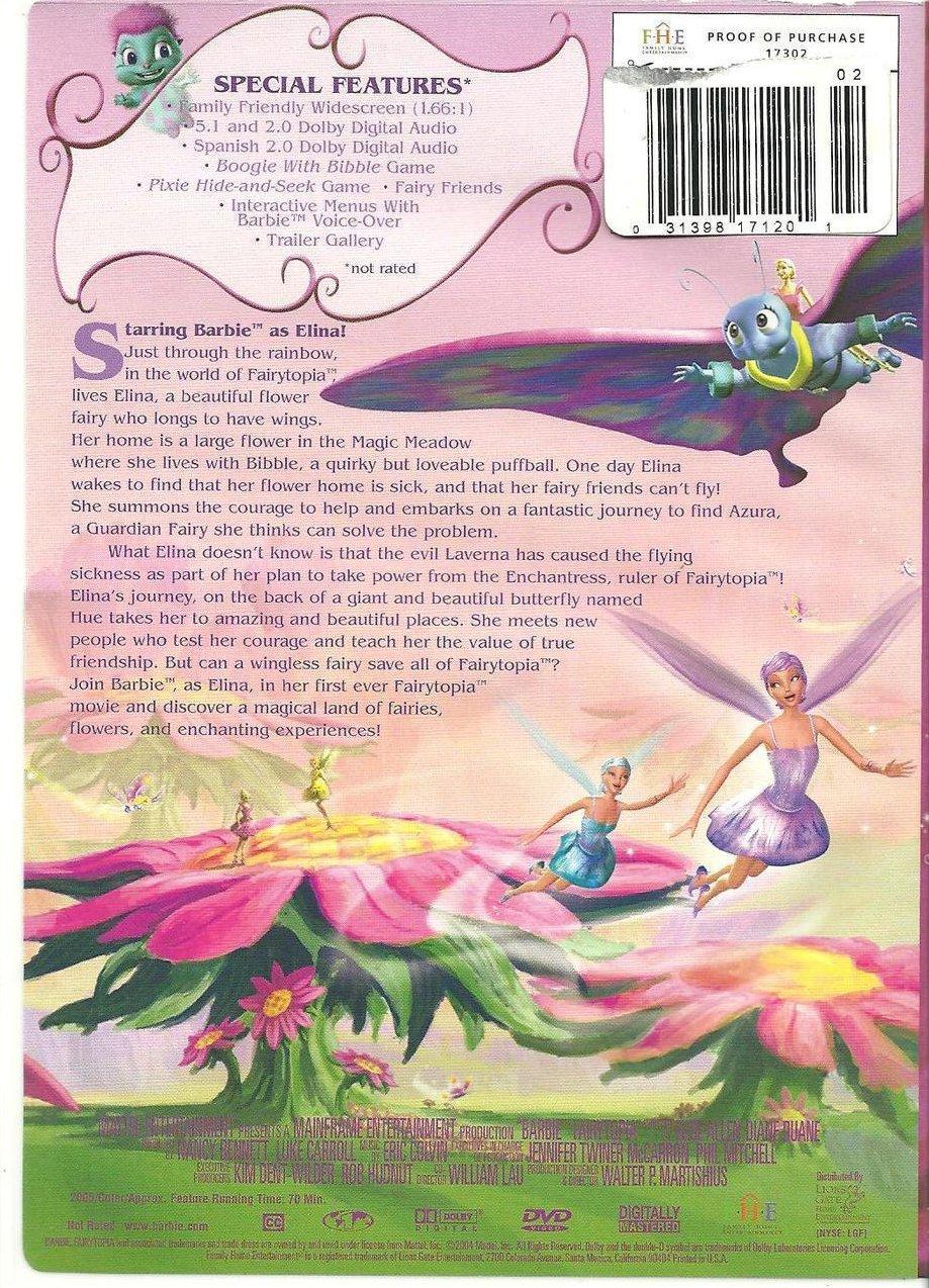Image 1 of Barbie Fairytopia Childrens DVD 2005