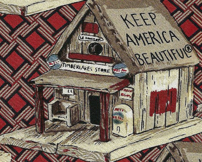 Image 0 of Necktie Bob Timberlake Keep America Beautiful Birdhouse Tie