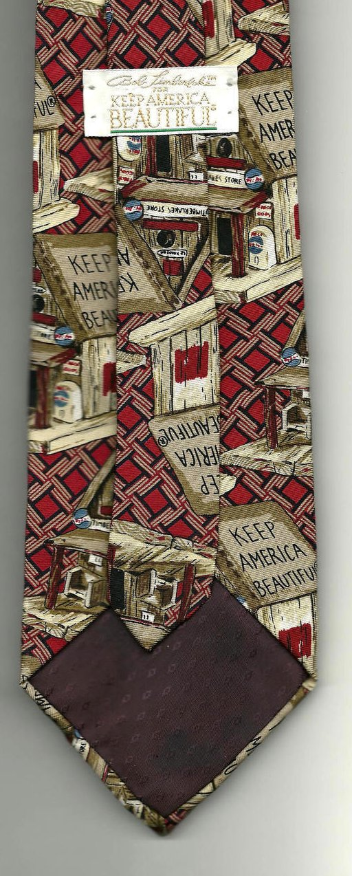 Image 2 of Necktie Bob Timberlake Keep America Beautiful Birdhouse Tie