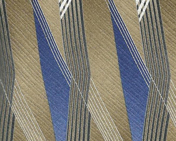 Image 0 of Stafford Mens Silk Tie Necktie Brown Blue White 62 inches