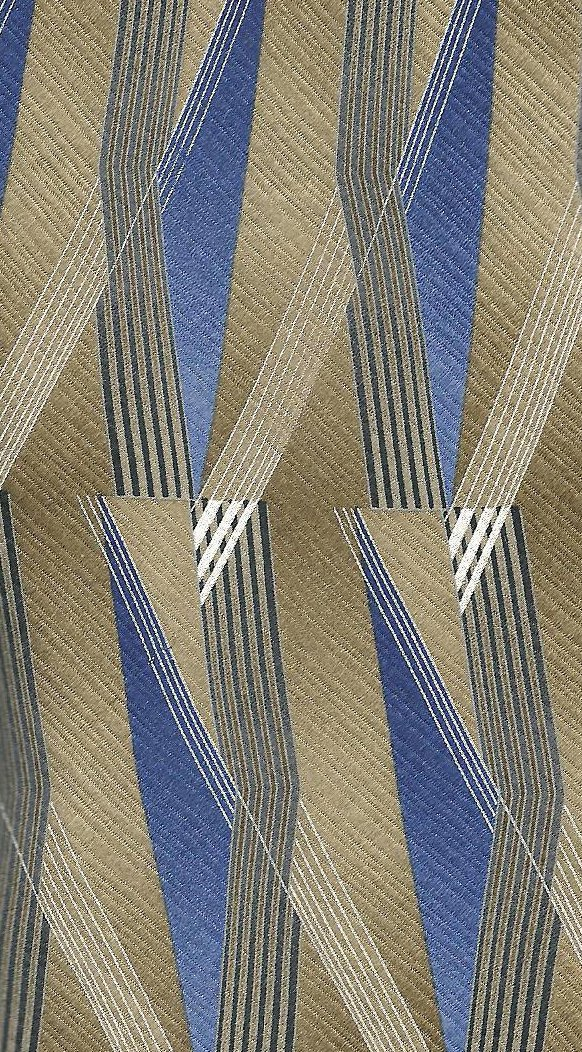 Image 3 of Stafford Mens Silk Tie Necktie Brown Blue White 62 inches
