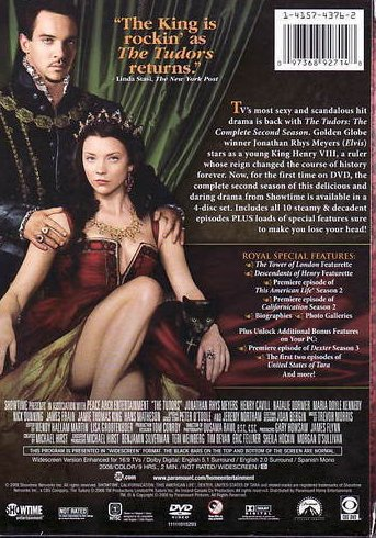 '.The Tudors DVD Second Season.'